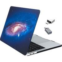 Macstorey Apple Yeni Yeni Macbook Pro A1706 A1708 A1989 13 inç 13.3 inç Kılıf Kapak Hard Case Sky + Usb-c Hub Kutulu 1250