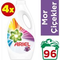 Ariel 24 Yıkama 4'lü Paket Sıvı Çamaşır Deterjanı Mor Çiçekler