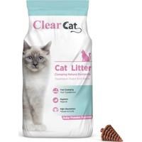 Clear Cat Bebek Pudrasi Kokulu 10 Kg İnce Taneli Bentonit Kedi Kumu