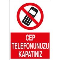 Canis Etiket Cep Telefonunuzu Kapatınız Alüminyum