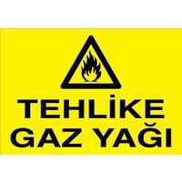 Canis Etiket Tehlike Gazyağı Pvc-Leksan