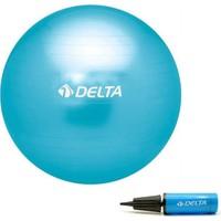 Delta 65 cm Turkuaz Deluxe Pilates Topu + 25 cm Çift Yönlü Pompa