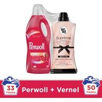 Perwoll Color 2 lt Sıvı Çamaşır Deterjanı + Vernel Romance 1200 ml Yumuşatıcı