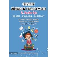 Altın Nokta 3. Sınıf Gerçek Zihinden Problemler Bilsem-Kanguru-Olimpiyat Kitabı