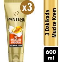 Pantene 3 Minute Miracle Saç Bakım Kremi Saç Dökülmelerine Karşı Koruma 3 x 200 ml