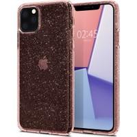 Spigen Apple iPhone 11 Pro Max Kılıf Liquid Crystal Glitter Rose Quartz - 075CS27132