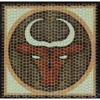 Domenech Boğa Burcu Simgesi Mozaik Taş Puzzle