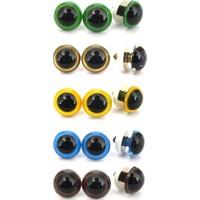 Amigurumi Vidalı Renkli Göz Seti 100'lü 10 mm