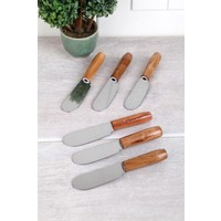 Arow Bambu Saplı Lüx 6 Adet Tereyağı-Reçel Bıçağı