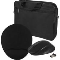 Evocase EVO300 15,6'' Notebook Çantası (EVO301 Bilek Destekli Mousepad + Kablosuz Mouse) Set