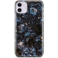 Melefoni Apple iPhone 11 Kılıf Marble Mermer Serisi Siyah Mavi