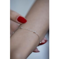 İzla Design 5489 Top Model Gümüş Zincir Bileklik