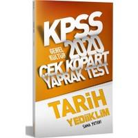 Yediiklim Yayınları 2020 KPSS Genel Kültür Tarih Çek Kopart Yaprak Test