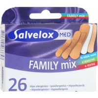 Salvelox Med Family Mix - Aile Için Karışık Yara Bandı 26 Adet