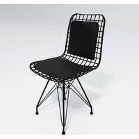 Knsz kafes tel sandalyesi 1 li mazlum syhsyh sırt minderli ofis cafe bahçe mutfak