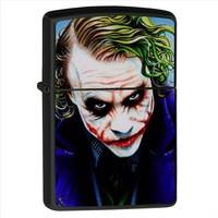 Noon Collection Joker Silüet Baskılı Siyah Renkli Çakmak