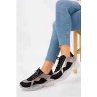 Fox Shoes SiyahPlatin Kadın Sneakers G270565002