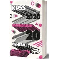 Yediiklim Yayınları 2020 KPSS Genel Kültür Vatandaşlık Tamamı Çözümlü 20 Deneme