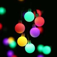 Led Dükkanı 30 LED 5 m Pilli Renkli Opak Ağaç Noel Yılbaşı Bahçe Balkon Lambası Dolama Işık