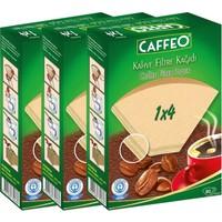 Caffeo Filtre Kahve Kağıdı 1x4 4 Numara 80'li 3'lü Paket 240 Adet