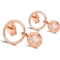 Dal Kuyumculuk 14 Ayar Rose Altın Çember Küpe Modeli
