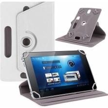 """AksesuarFırsatı Asus MeMO Pad 7 (ME70C) 7"""" Tablet Dönerli Tablet Kılıfı Beyaz"""