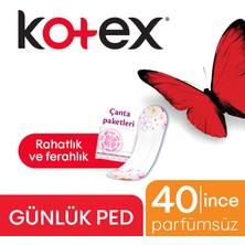 KOTEX LIGHTDAYS PARFUMSUZ GUNLUK PED 34 LU