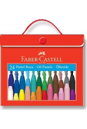 Faber-Castell Plastik Çantalı Tutuculu Pastel Boya 24 Renk