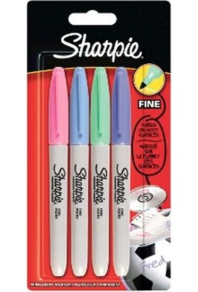 Sharpie Sharpie Fine Permanent 4'Lü Pastel Renk Markör