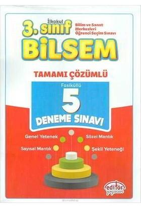Editör Yayınları 3. Sınıf BİLSEM Çözümlü 5 Deneme Sınavı