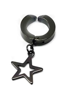 Madame Kuub Gym93 Deliksiz Kulaklar İçin Sıkıştırmalı Unisex Çelik Küpe Yıldız Uçlu