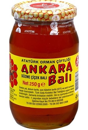 Aoç Süzme Ankara Çiçek Balı 250 gr