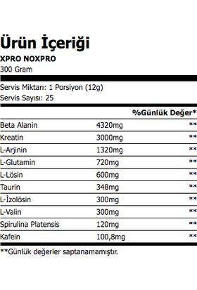 Xpro Nutrition Noxpro Pre-Workout 300GR - Yaban Mersini Aromalı