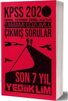Yediiklim Yayınları 2020 Kpss Gy-Gk Son 7 Yıl Tamamı Çözümlü Çıkmış Sorular