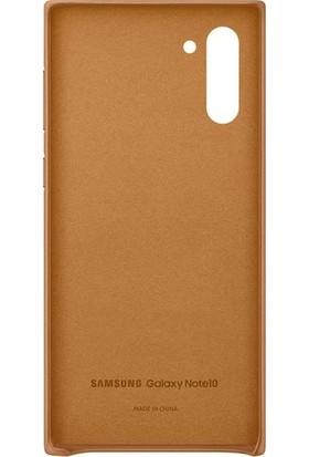 Samsung Galaxy Note 10 Kahverengi Deri Kılıf-(EF-VN970LAEGWW)