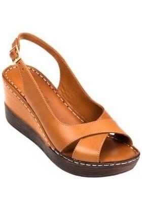 Maxsens 305 Dolgu Topuklu Kadın Sandalet