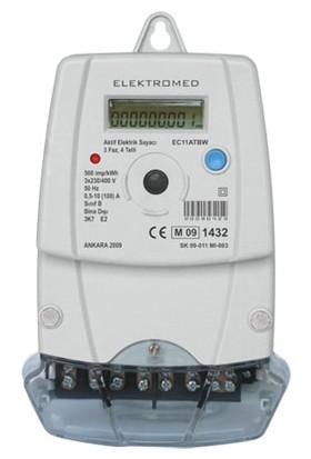 Elektromed Trifaze Kombi Elektrik Sayacı