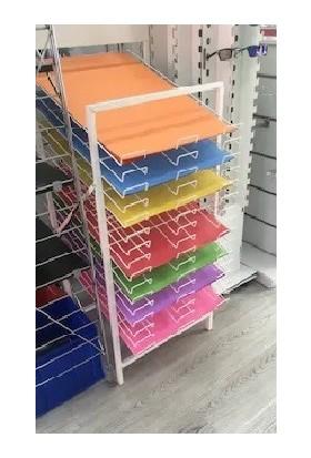 Vitrin Raf Fon Karton Standı - 16 Katlı Katlanabilir Stand