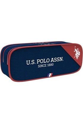 U.S. Polo Assn. Kalem Çantası Plklk8115 Kırmızı Lacivert