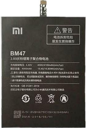 Yedekyedek Xiaomi RedMi 4X BM47 Batarya Pil A++ Lityum İyon Pil