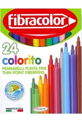 Fibracolor Colorito Keçeli Kalem 24 Renk