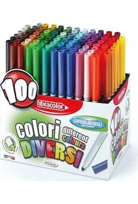 Fibracolor Keçeli Kalem 100 Renk Diversi