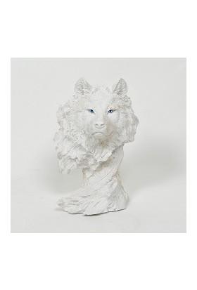 Esteryum Dekoratif Polyester Kurt Kafası Heykel / Biblo
