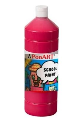 Ponart School Paint Okul Boyası 1000 Ml. Koyu Kırmızı