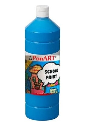 Ponart School Paint Okul Boyası 1000 Ml. Primier Mavi