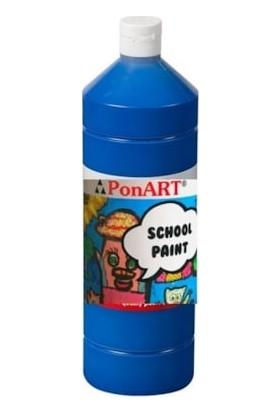 Ponart School Paint Okul Boyası 1000 Ml. Koyu Mavi