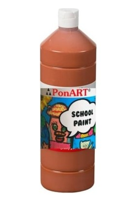 Ponart School Paint Okul Boyası 1000 Ml. Açık Kahve