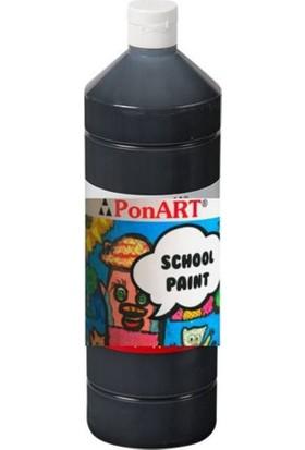 Ponart School Paint Okul Boyası 1000 Ml. Siyah