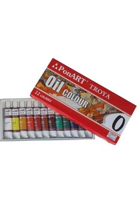 Ponart - Kosida Troya Yağlı Boya Seti 12 Renk x 12 ml.