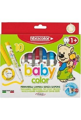 Fibracolor Baby Color 1+ Yaş Bebekler İçin Keçeli Kalem 10 Renk